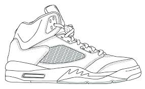 Coloring Pages Air Jordan Coloring Pages Page Shoe Shoes 4 Nike