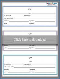 Free Printable Iou Forms Free Printable Iou Form Lovetoknow