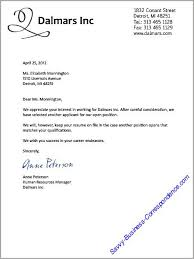 Example Of Business Letter For Employment Viactu Com