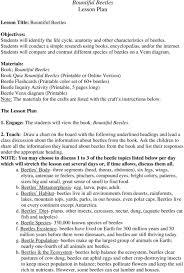 Genesis 1 And 2 Venn Diagram Bountiful Beetles Lesson Plan Pdf