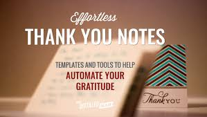 Personal Thank You Note Templates, Tips And Tools | The Distilled Man