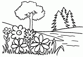Small Picture Trees and flowers Free Printable Coloring Pages