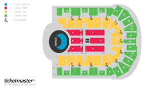 Liverpool Echo Seating Chart Liverpool Echo Arena Seating Map