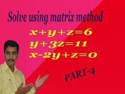 solve by matrix method x y z 6 y 3z 11