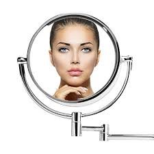 happy valentine s day vinmax led lighted makeup mirror led bathroom mirror dual arm extend 2 face makeup mirror equipped metal round wall