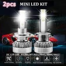 2PCS LED Car Headlight COB Chip 6000K LED Bulbs Mini ... - Vova
