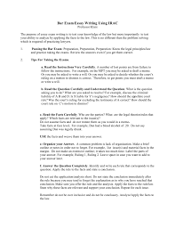 Bar Exam Essays Bar Exam Essay Writing Using Irac