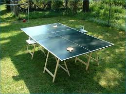 picture of how to build a ping pong table