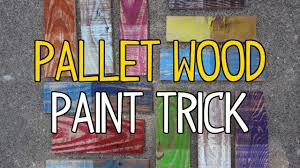 Paint Wash On Wood Diy Pallet Wood Paint Trick Youtube