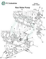 raw water pump series 60 detroit diesel engines catalog page 250 5 6001 5 6581 raw water pump jpg diagram