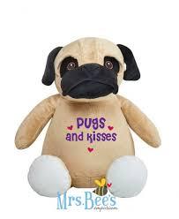 reduction pug plush pugs and kisses pug gift pug gifts pug gifts for her pug