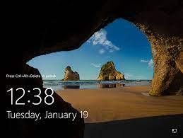 default lock screen image in Windows 10