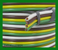 trailer light cable wiring harness 14 6 14 gauge 6 wire jacketed trailer light cable wiring harness 14 4 14 gauge 4 wire bonded parallel