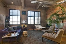Furniture:Inspiring Loft Furniture Ideas Feat Tufted Sofa Also Brick Walls  Inspiring Loft Furniture Ideas