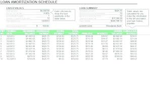 Excel Loan Payment Template Schedule Calculator With Extra Payments