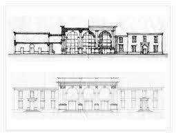 architectural building sketches. Building Viewed From Front Elevation On White Background - Stock Photo | Architecture Line Drawing Shutterstock Pinterest Illustrators Architectural Sketches A