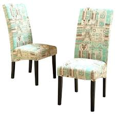 teal fabric dining chairs geometric set of 2 contemporary photo room padded