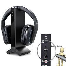 samsung tv headphones. wireless stereo tv headphones, artiste d1 2.4ghz optical fiber headset for listening w/ digital output ,20 hour battery and headphones charging dock samsung tv