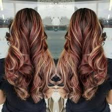 Red Hair Brown Hair Blonde Highlights