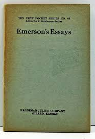 emerson ralph waldo emerson emerson ralph waldo emerson s essays ten cent pocket series no 60