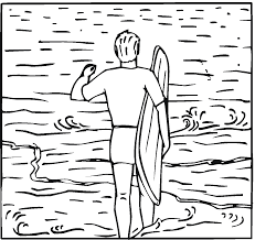 Surfing Coloring Pages
