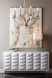 bent crystal five light chandelier