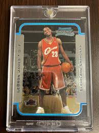 Lebron james made his nba debut for the cleveland cavaliers in 2003. 2003 2004 Bowman Chrome Lebron James Cleveland Cavaliers 123 Basketball Card For Sale Online Ebay