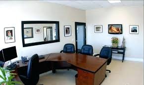 modern office interior design ideas small office. Small Office Room Design With Brown Half Circle Furnishing Table Modern . Interior Ideas