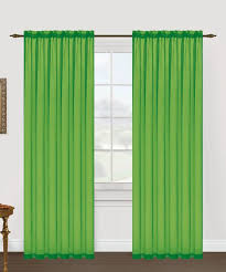 neon lime monique voile panel set of two