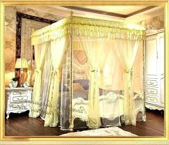 King Size Canopy Bed Luxury Mosquito Net Home Frame Queen Regarding ...