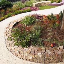 source plantedwell com this gabion garden wall edging