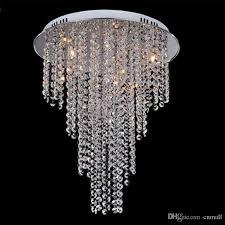new arrival modern crystal chandelier light contemporary crystal ceiling light lamps 8 light g4 bulb included living room lighting 110v 240v wire chandelier