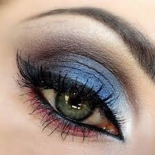 red white blue make up
