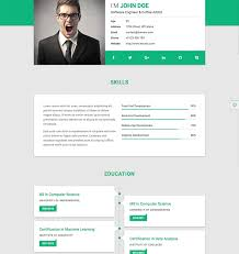 Resume Website Template Github Resume Builder Web Page Template Free