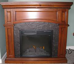 nantucket 18in golden cherry electric fireplace convertible mantel package