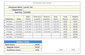 Employee Time Tracking Template Employee Hour Tracking