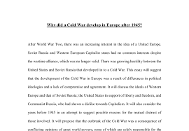 why did a cold war develop in europe after a level history  document image preview