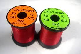 Amazon Com 8 0 Uni Thread 72 Denier Fly Tying Thread Red