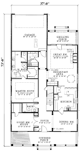 15 hawk hill narrow lot home plan 055d house plans rear entry garage very attractive design