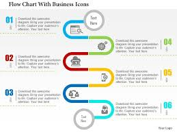 Flow Chart Making Website Flow Chart With Business Icons Flat Powerpoint Design