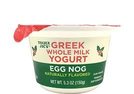 egg nog whole milk greek yogurt