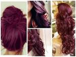 Red and purple hair dye mixed video pictures
