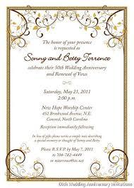 Surprise 50th Anniversary Invitation Wording Best 25 Wedding