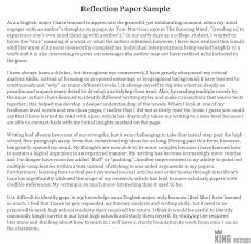 Example Of A Reflective Essay How To Write A Reflection Paper Examples And Format