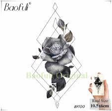 Baofuli треугольник ромб временная наклейка татуировки водонепроницаемый эскиз