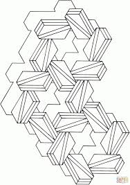 Optische Illusie Dubbele Driehoeken Kleurplaat Gratis Kleurplaten