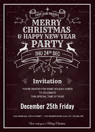 Christmas Invitation Card Christmas Holiday Invitation Card