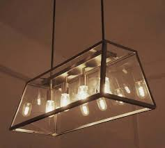 loft iron and clear glass shade chandelier 7606