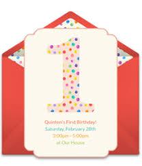 E Invites For Birthday Free 1st Birthday Online Invitations Punchbowl