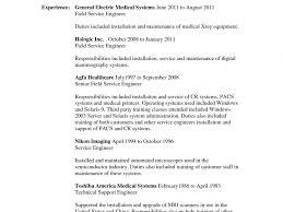 Aerospace Medical Service Apprentice Sample Resume Medical Service Engineer Sample Resume Shalomhouseus 22